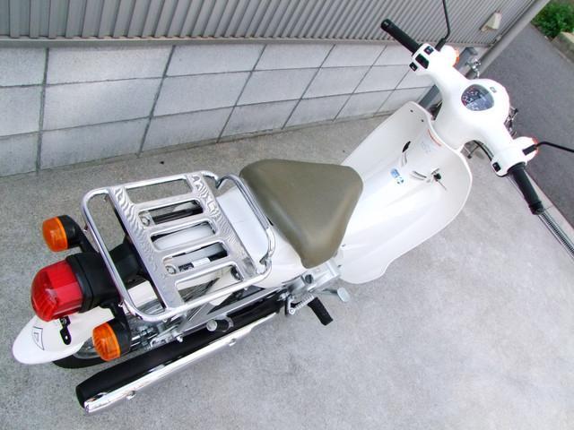 ホンダ スーパーカブ110 JA07 ファブリック柄シートレザー張り替えの画像(大阪府