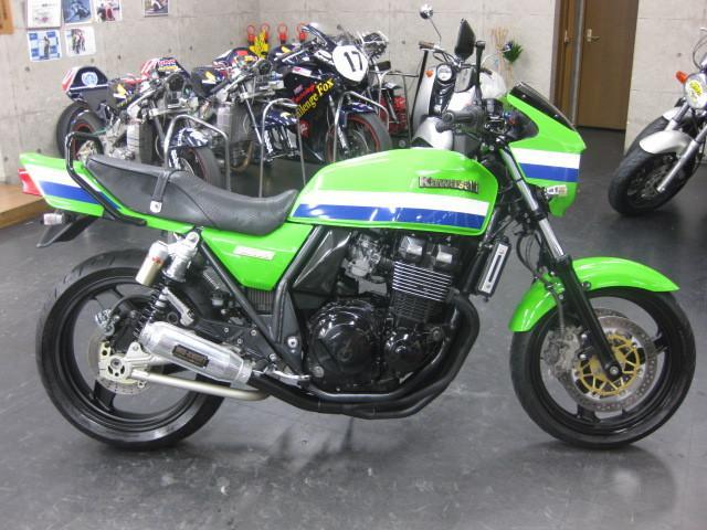 カワサキ ZRX400 トキコ6ポットWキャリパー ミッドナイトモナカ管 99yの画像(大阪府