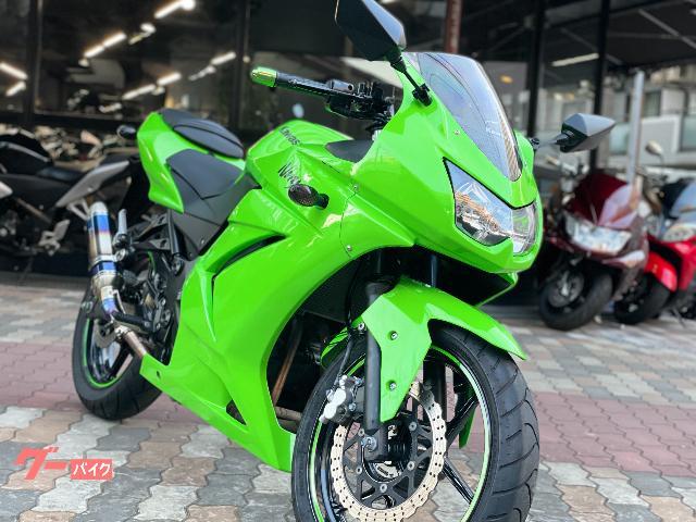 Ninja 250R カスタムマフラー ヘルメットホルダー
