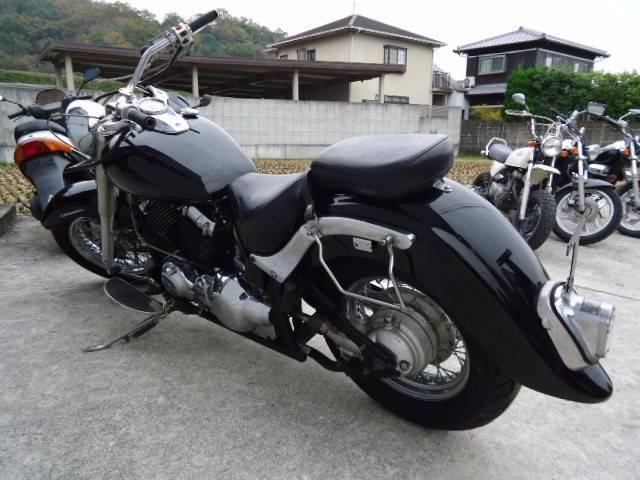 ヤマハ ドラッグスター400クラシック マフラー改の画像(兵庫県