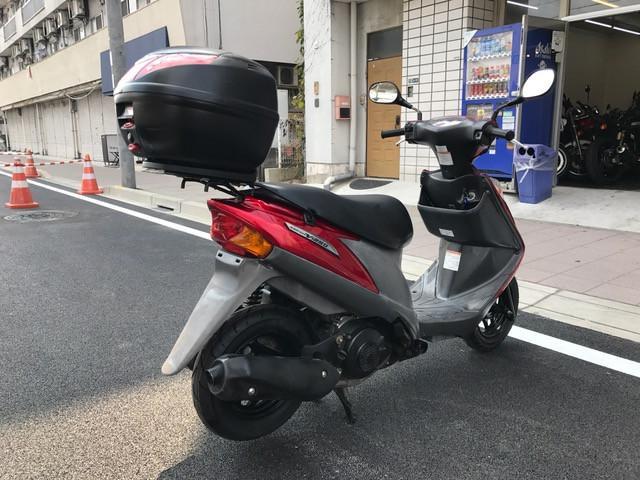 スズキ アドレスV125G リアBOX付きの画像(兵庫県