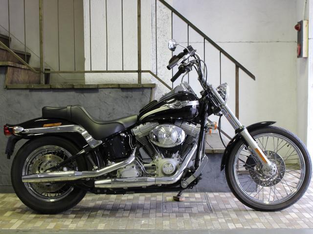 HARLEY-DAVIDSON FXST ソフテイルスタンダード スクリーミンイーグルマフラー Fウインカー移設の画像(東京都