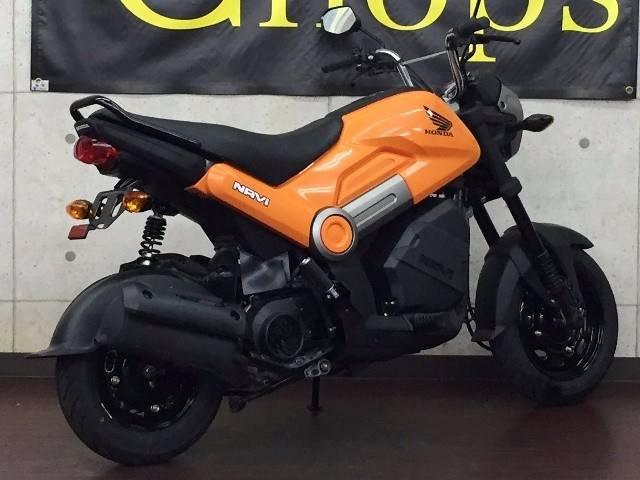 ホンダ NAVI110 オレンジ ラゲッジボックス サイドスタンド装着タイプの画像(京都府