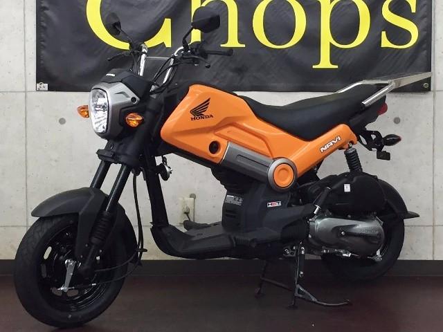 ホンダ NAVI110 オレンジ ステンレスリアキャリア装着タイプの画像(京都府