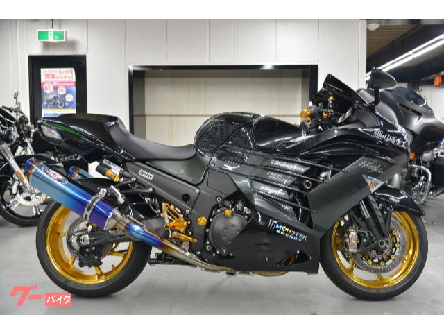 Ninja ZX−14R ハイグレード ビートジャパンチタンフルエキ マルケジーニM7RSホイール ベビーフェイスバックステップ他
