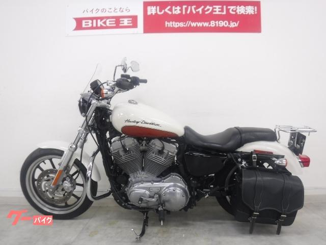 HARLEY-DAVIDSON XL883L スーパーロー 2011年式モデル ローダウンサス エンジンガード サイドバッグ 他アクセサの画像(京都府