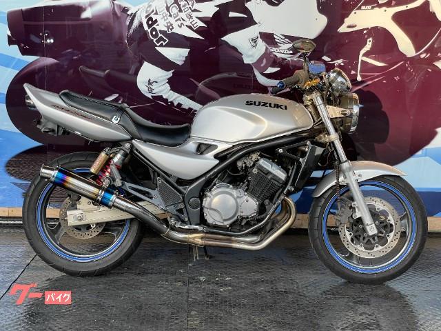 スズキ GSX250FX 社外サイレンサー ハンドル ハンドルポスト ウィンカーの画像(和歌山県