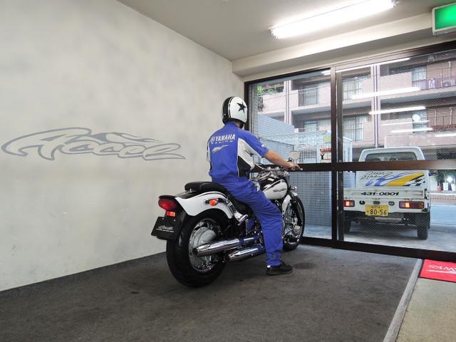 ヤマハ ドラッグスター400 黒白ノーマルの画像(福岡県