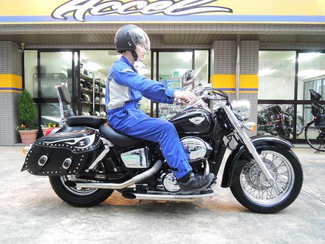 ホンダ シャドウ400 スラッシュカットマフラー グーバイク鑑定車の画像(福岡県