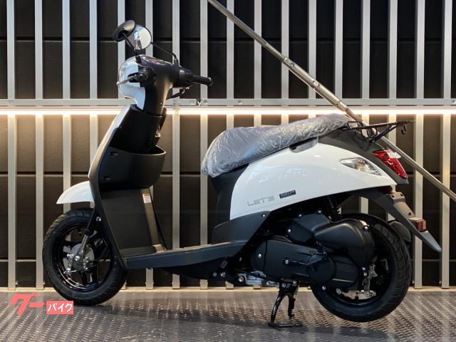 スズキ レッツ インジェクション 現行モデル CA4AA ホワイトの画像(岡山県