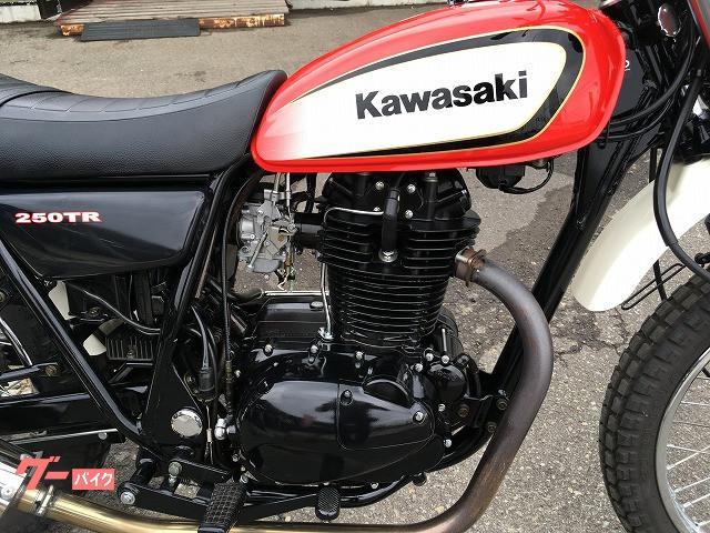 カワサキ 250TR キャブレターモデル 社外マフラー No2590の画像(秋田県