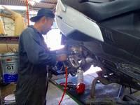 県内唯一の民間車検工場完備しているお店です!車検もサキハマにお任せ♪