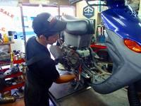 二級・三級整備士在沖店です!確かな技術であなたのバイクを整備したします