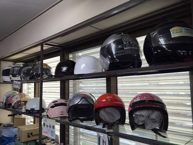 ヘルメット多数展示中!新車ご成約で、ヘルメットプレゼント中!