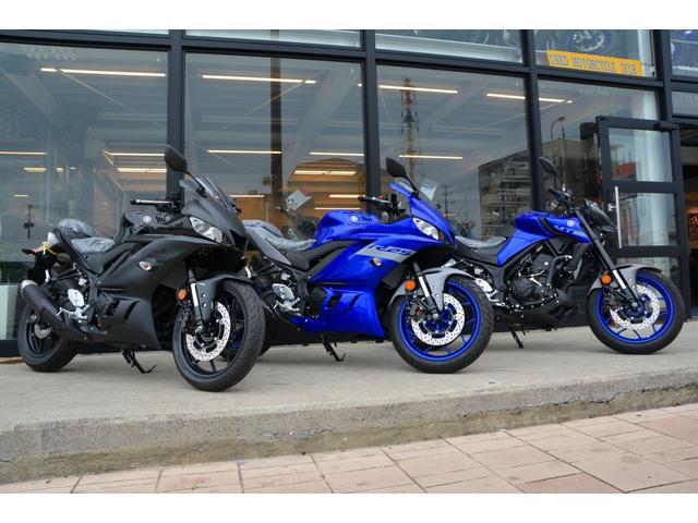 店内にはバイクパーツも展示しております。お気に入りの1台をカスタマイズしてみませんか?