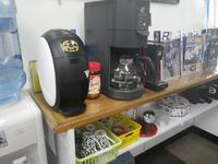 プチカフェスペースをご用意しております♪当店のコーヒーの味は美味しいですよ笑