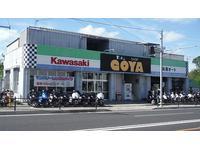 宜野湾市役所近く、那覇市→沖縄市向け左側、たくさん並んだバイクが目印です。店内ショールームにも多数の車両を展示中!ぜひお気軽にご来店ください!