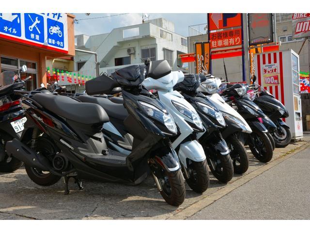 スズキ現行スクーター新車、各メーカー中古車常時在庫しています。