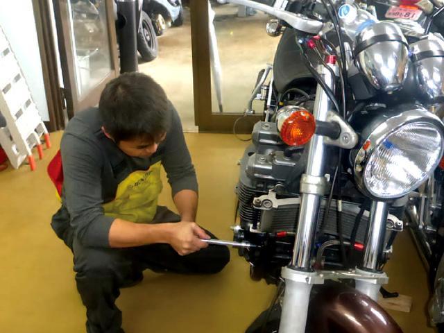 とにかく丁寧かつ繊細な作業を常に心がけて いつでも一生懸命、バイクに向き合います。