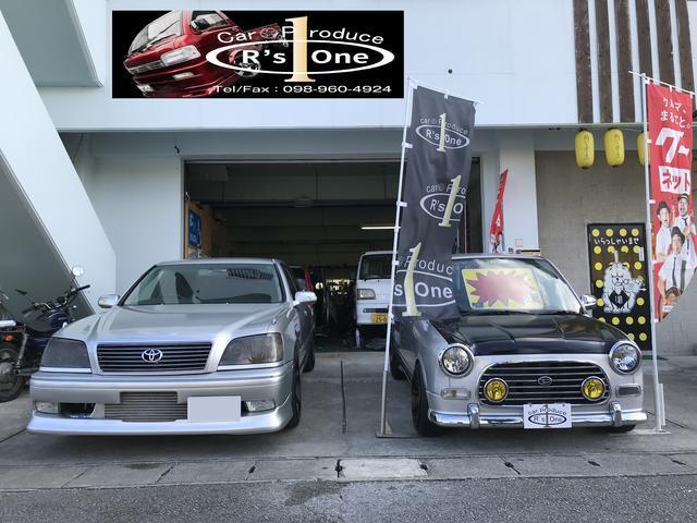 沖縄市イエローボックス向かいとなります!中古車を中心に取り扱いをしております!