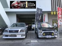 車を中心にカスタム車も展示中