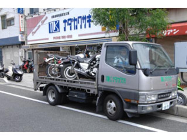 動かなくなったバイクの引取はお気軽にお問い合わせくださいませ。他店購入のお客様も対応致します。